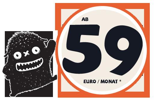 Ab 59 Euro im Monat